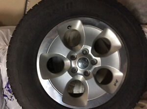 Stock Rims and winter tires 5 for Jeep Wrangler