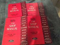 1970 Factory Ford Car Shop Manual