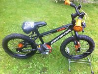 Child's Apollo star fighters bike age group 5 to 7 years