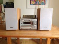 Sony stereo system with CD, MD and tuner