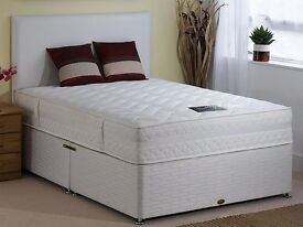 """1YEAR GUARANTEE"" BRAND NEW MODERN Double Or Kingsize Divan Bed With 12"" 2000 Pocket Sprung Mattress"
