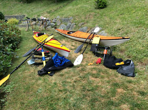 Two kayaks with all accessories (except pfd's)