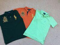 Bundle of 3 Ralph Lauren short sleeve tops aged 8-10