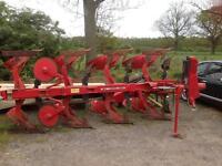 Massey Ferguson 4 furrow reversible plough ex council adjustable furrow width