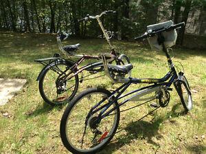 Two Evox semi-recumbent bikes $500