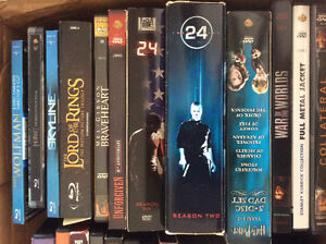Misc dvds, blu rays lot