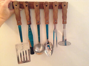 Metal Utensils with Holder