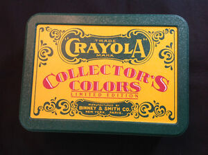 Crayola Collector's Limited Edition Tin with Crayons.  (1990 )
