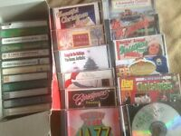 14 CHRISTMAS CD'S and  12 CASSETTES - Used