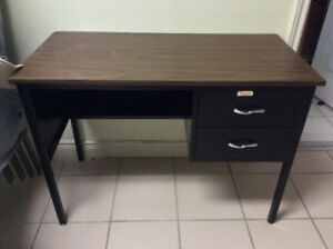 FS: Metal Study Desk with wooden top