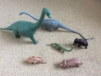 Toy Dinosaurs a collection of 6