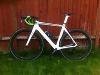 Planet X N2A Carbon Aero Race Road Bike. Carbon wheels. SRAM Red.