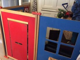 Role play panels play house