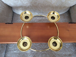 Brass 4 candle holder Kitchener / Waterloo Kitchener Area image 3