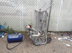 Cement cutter and air compressor