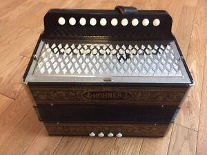 Hohner single row button accordion, C
