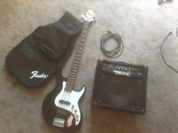 Bass guitar and Amp 250.00 package deal