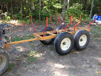 ATV trailer Logs haller