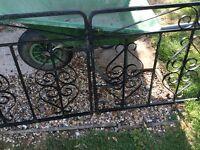 Pr of wrought iron drive way gates