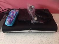 Sky+ HD box and wifi box with kids frozen remote