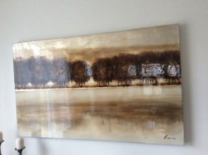Toile paysage arbres