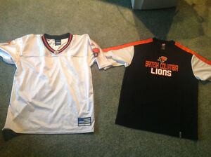 BC LIONS T-SHIRT and AUTHENTIC TEAM JERSEY...