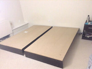 Twin platform particle wood bed for sale
