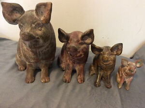 Vintage Clay Piggy Banks Family (Set Of 4) London Ontario image 1
