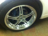 staggered AZA wheels 18'' 5x114.3 300ZX 350,370, 240