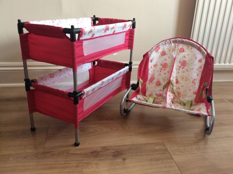 Mamas And Papas Dolls Bunk Bed Cots And Twin Rocker In Morley