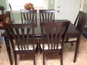 1/3 cost of new: Dining Table and 6 chairs