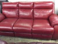 LAZY - BOY LEATHER 3 SEATER BRAND NEW