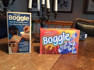 BOGGLE de luxe an 1976 vintage et Boggle an 1996
