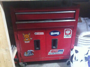 tool box on casters, 2 drawers, 100$ obo