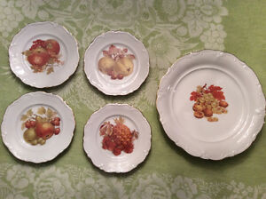 Winterling Bavarian - 4 fruit plates and 1 large platter