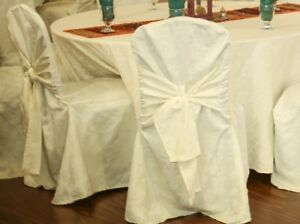 Used BAnquet Damask Chair Cover for $4