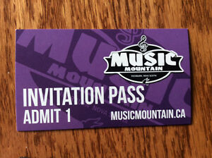 Music Mountain 2 wk-end tickets