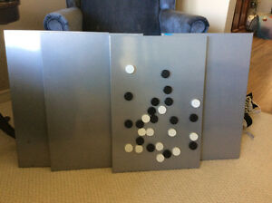 Magnetic boards with magnets