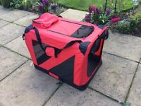 Folding Portable Soft Fabric Pet Carrier Red