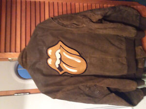 Rolling Stones Bridges to Babylon Leather Bomber Jacket