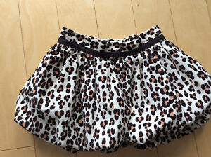 GAP leopard corduroy bubble skirt size 2