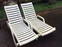Garden sun loungers ( 2) for sale