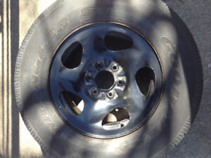 GM Spare Truck Tire on Rim 6 bolt