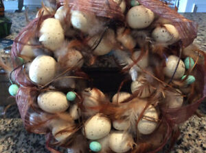 Easter Egg & Feather Wreath