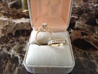 **Engagement Ring and Wedding Band for sale** Size 7