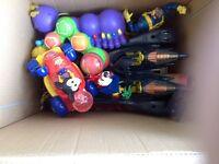 Box of toys, used but still plenty of life in them.