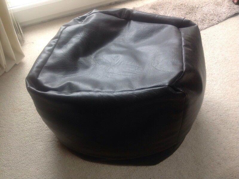 Brown mock leather bean bag