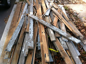Used lumber and wood removal~