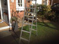 Loft ladder in light steel