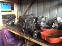 SMALL ENGNES, USED PARTS, SNOWBLOWERS, LAWN MOWERS, LAWN TRACTOR
